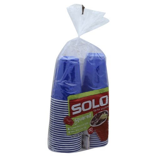 Solo SoloGrips Plastic Cups Squared 18oz 5000 each