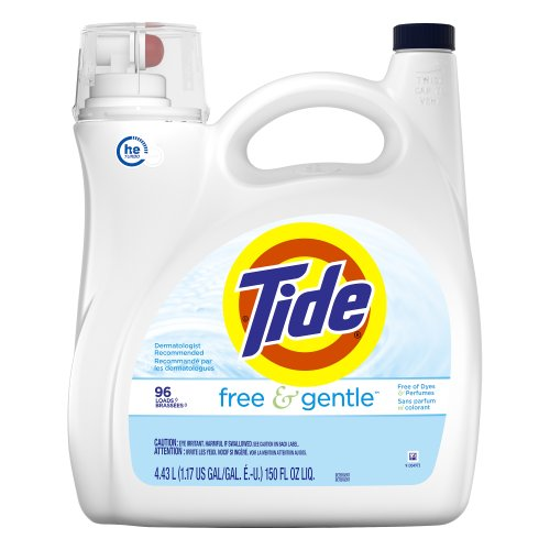 Tide HE Free and Gentle Liquid Laundry Detergent 15000 fl