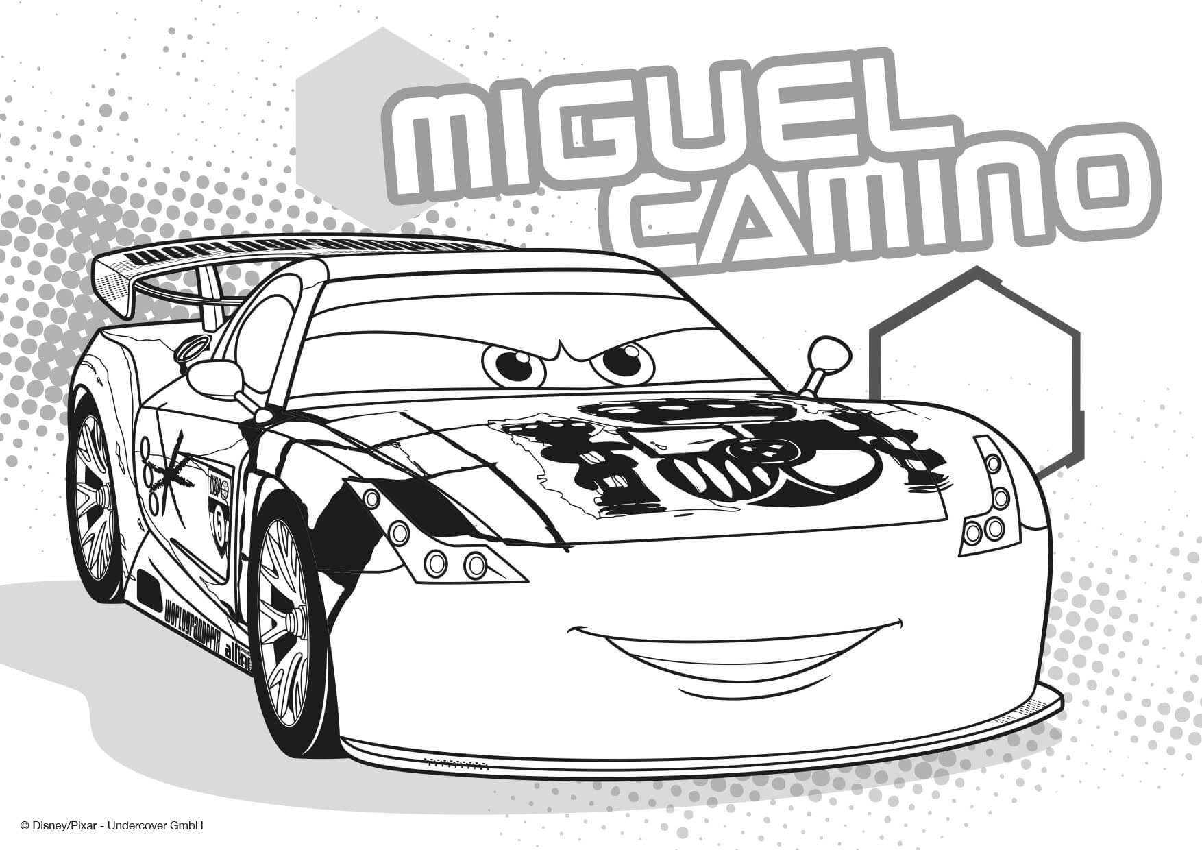 Malvorlagen Cars 2 Zum Ausdrucken Test - Malbild