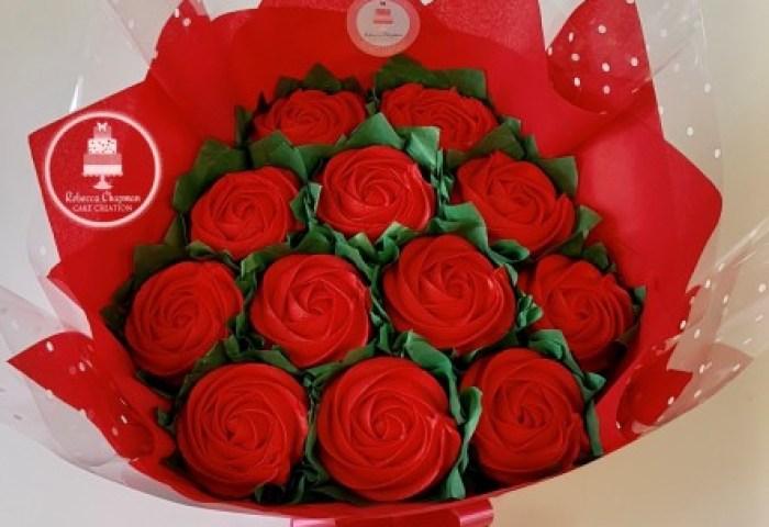 Valentines Cupcake Bouquet Rebecca Chapman Cake Creation