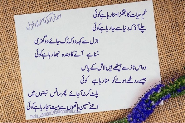 Ghazal SMS Messages Latest 2013 collection