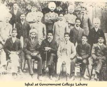 Sir Allama Iqbal with his Friends