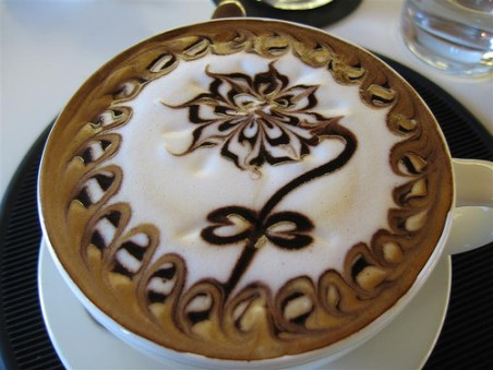 Flower on Coffee, Amazing Coffee Art Images