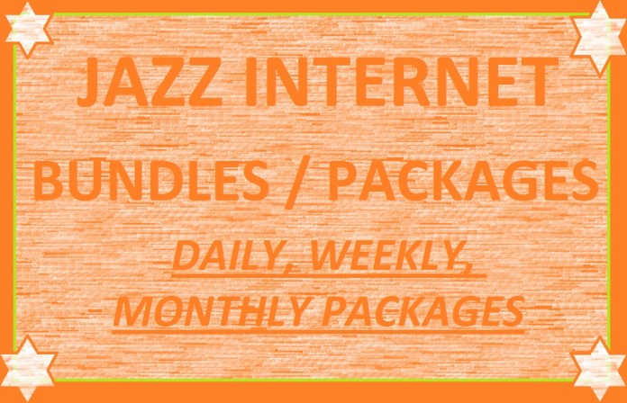 Jazz Internet Packages / Bundles