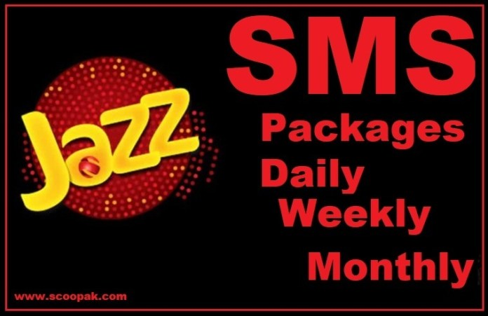 Jazz SMS Packages 2020 Hourly, Daily, Weekly And Monthly