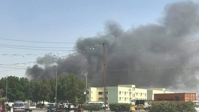 Fire in food and electrical storages in Najaf Iraq