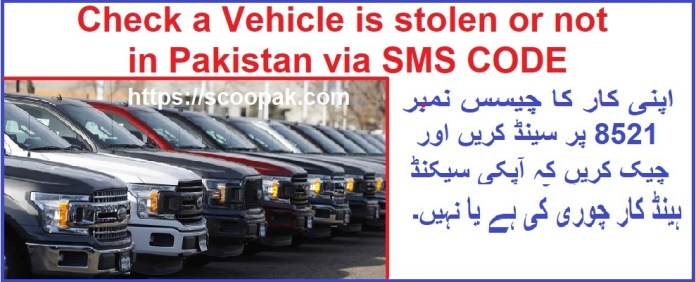 How to check Car Genuine or Stolen in Pakistan