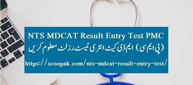 NTS MDCAT Result Entry Test