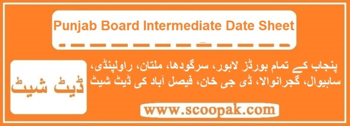 BISE Boards 12th Class Date Sheet 2021 For Inter Part 1 & 2