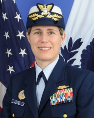 Photo of Rear Adm. Sandra Stosz, Superintendent of the Coast Guard Academy