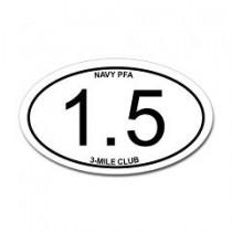 3-mile-club bumper sticker.