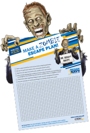 """A Navy contest asks kids to come up with a """"zombie escape plan"""" as a way to stress disaster preparedness. (Navy photo)"""