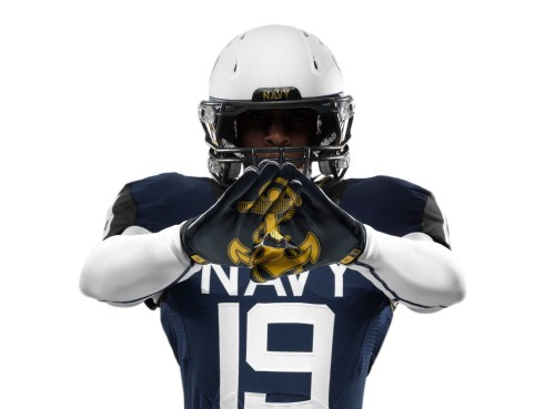 The Naval Academy's football team will rock these uniforms for the 114th annual Army-Navy game Dec. 14 (Photo courtesy Nike)
