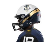 The game helmet is a nod to the officer's cover, according to Nike. (Nike photo)