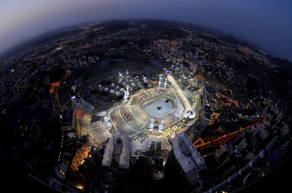 An aerial view of Makkah ()