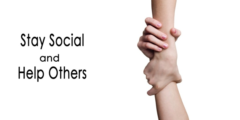 Stay Social and Help Others