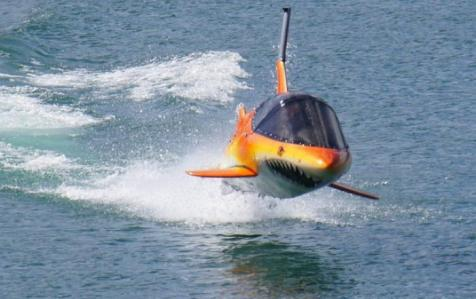 A seabreacher in action.