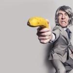 man with banana