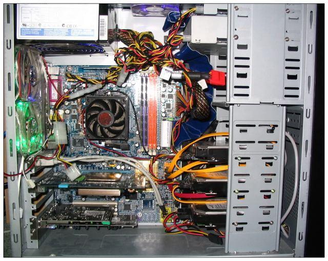 inside computer unit device