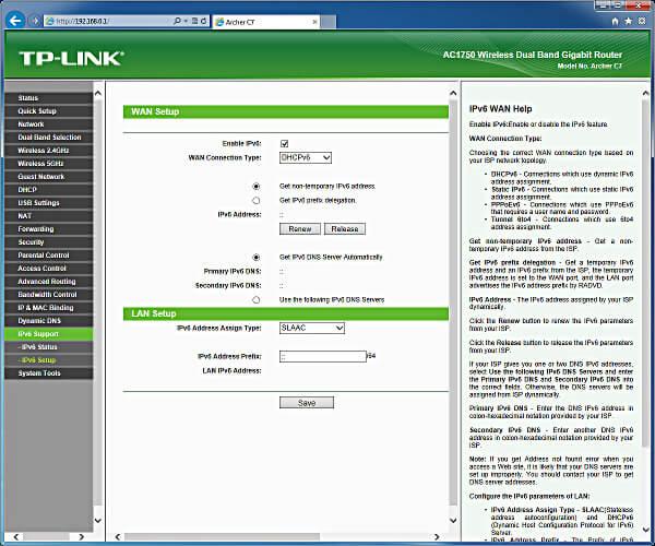 archer c7 IPv6 protocol