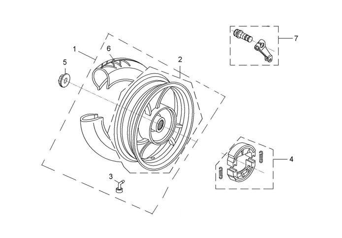Reifen-Ventil 90° für RS 500 (QM50QT-6) von Rex (Jinan