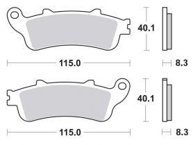 Ремень вариатора для скутера Honda FORZA 250 (MF-06), JAZZ
