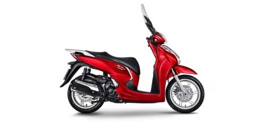 scooter honda sh300i fotos vermelho perolizado