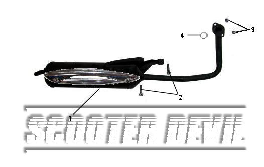 Auspuff ohne Anschluss für Sekundärluftsystem für RS 500