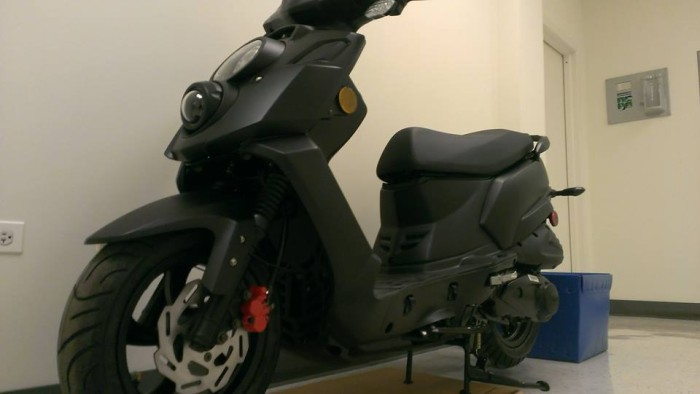 """Scooterworks """"leaked"""" a photo of a Hooligan, but we think it's a pre-production version."""