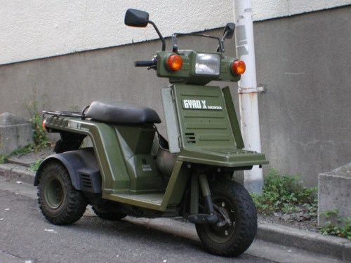 The three-wheeled Honda Gyro has been in production in some form since the 1980s.