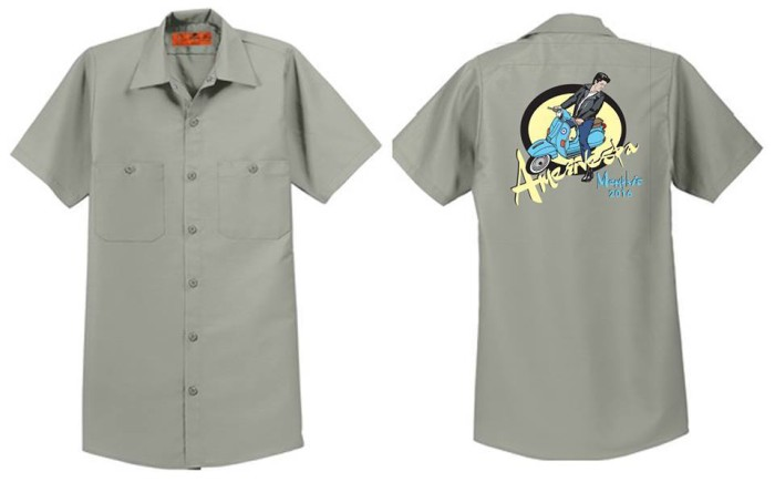 Amerivespa Mechanic Shirt