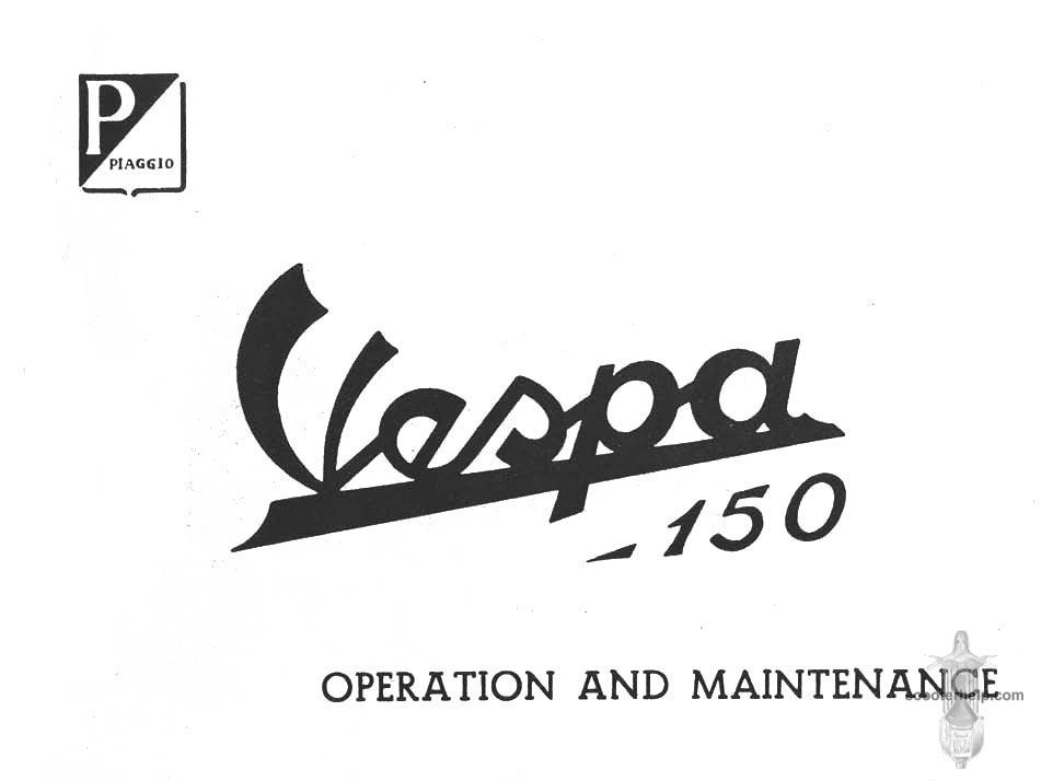 Vespa 150 (VB1T) Owner's Manual