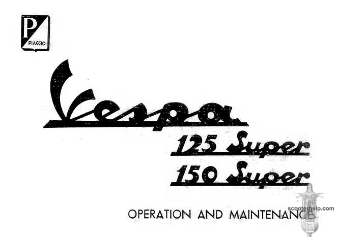 Vespa 125 & 150 Super Owner's Manual