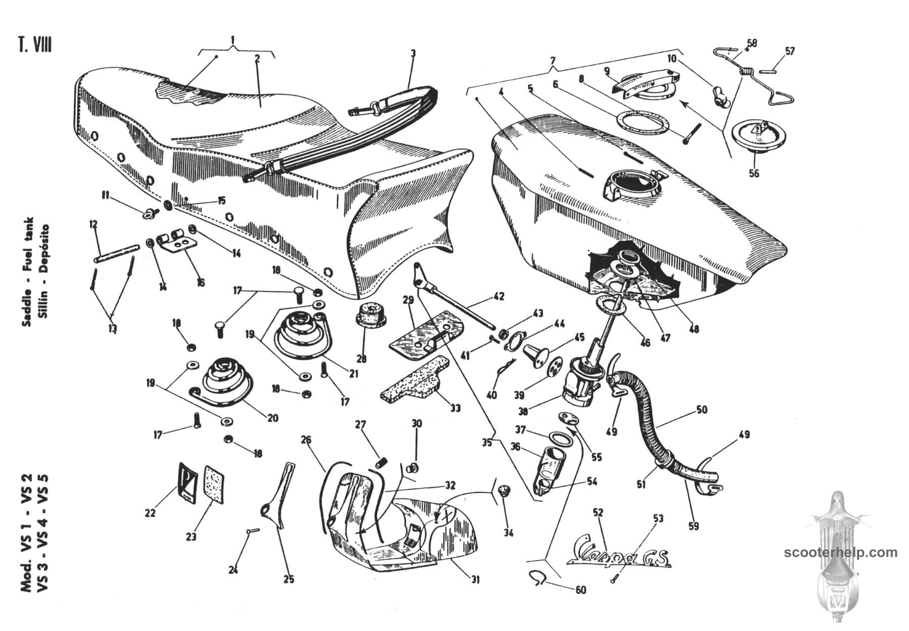 Vespa GS150 Parts Book