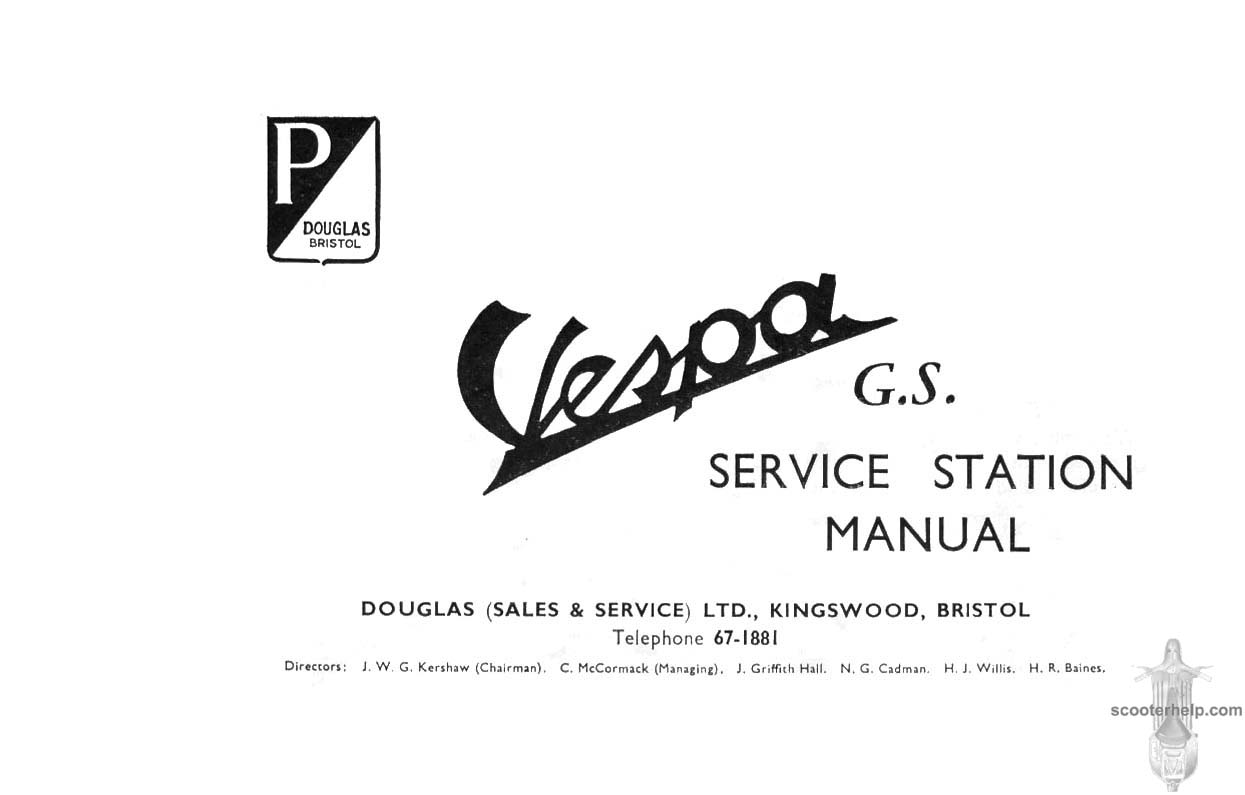 Vespa Douglas GS150 Service
