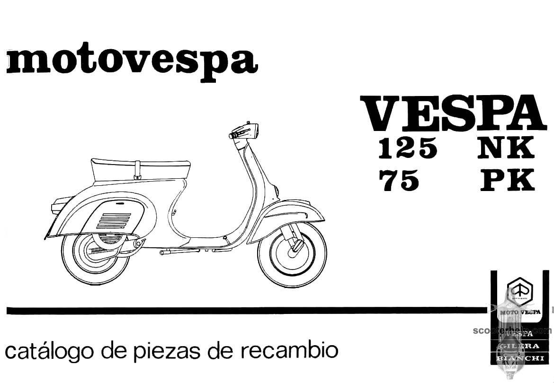 MotoVespa 75PK & 125NK Parts Manual
