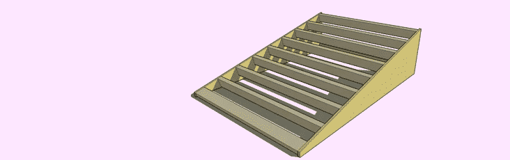 step 5-fixing ramp support