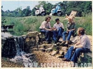 1970s Lambretta brochure featuring Paul and Jo Karslake (now Jo Wood)
