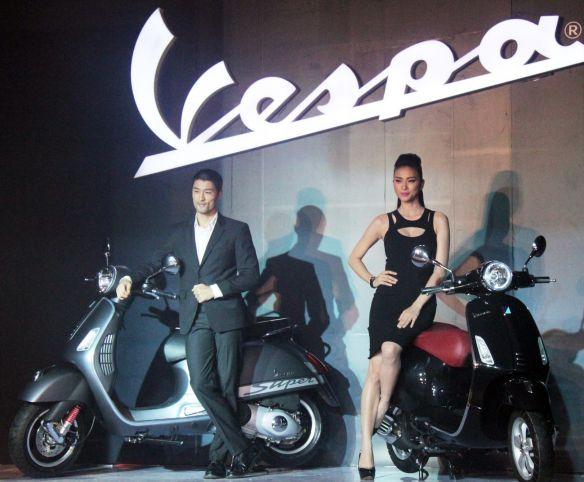 Vietnamese made Vespa GTS Super & Vespa Primavera scooters, produced for the local market.