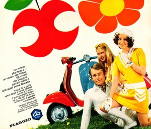 Italian advert for the Vespa 50 and Vespa 50 Special, circa 1971.