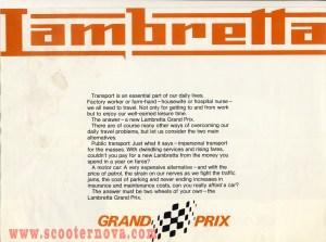 1970s Lambretta brochure