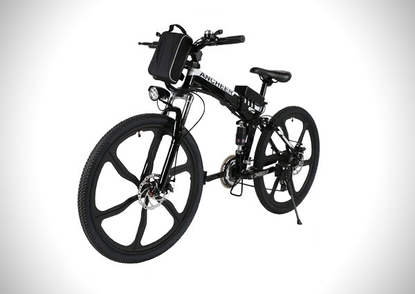 ANCHEER Folding Electric Mountain Bike with 26 Super Lightweight Magnesium