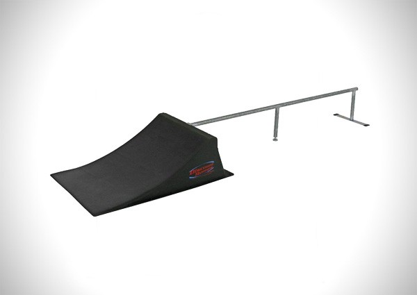 Discount Ramps SK-904 Black 12 High Skateboard Launch Ramp and Rail Kit