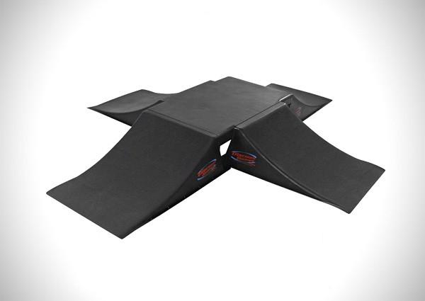 "Discount Ramps SK-905-4RK Black 12"" High Full Fly Box Skateboard Launch Ramp Kit"