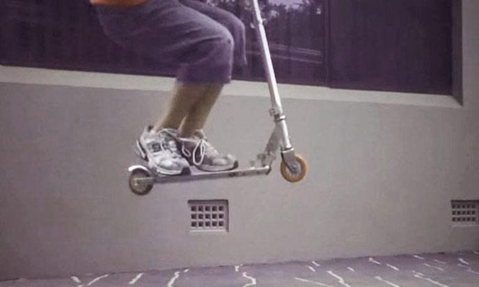 Manual Wheelie Scooter Trick