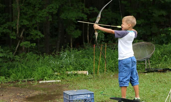 Kids Playing Archery