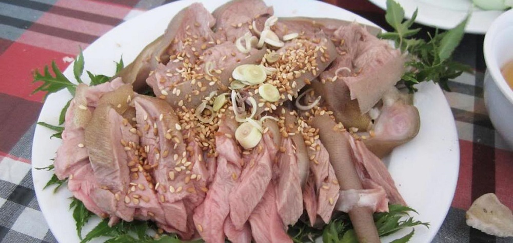 goat meat in ninhbinh vietnam