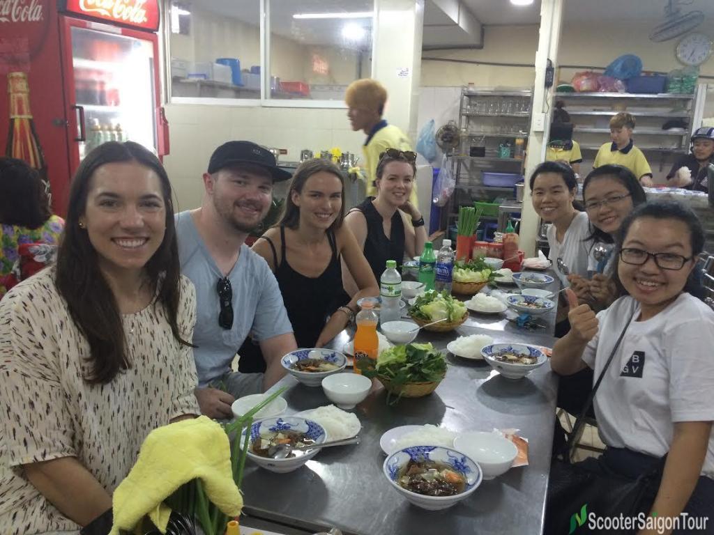 saigon sightseeing tour and street food bun cha