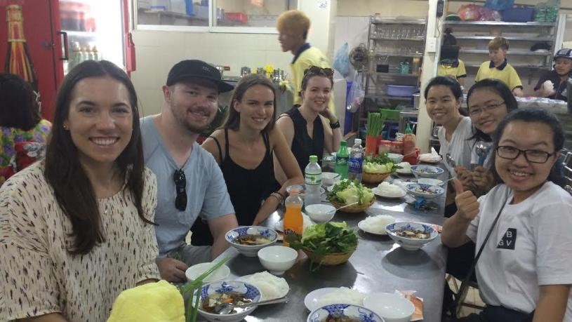Saigon street food tour in Ba Hoa market