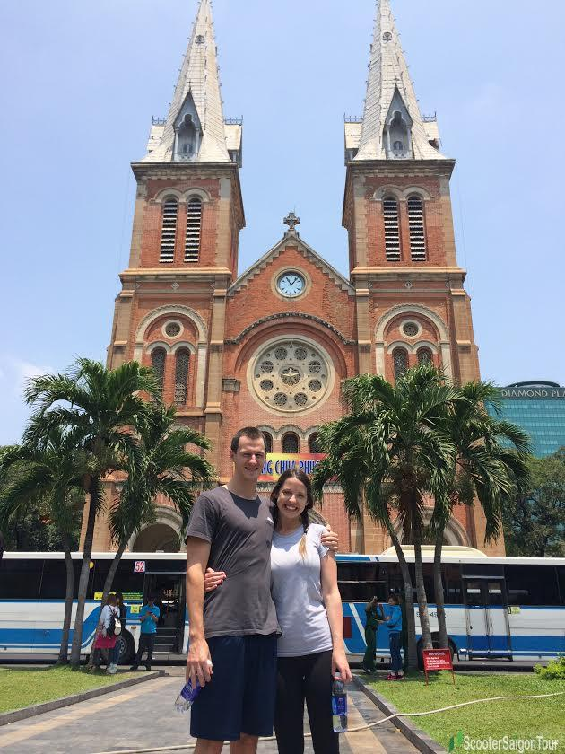 saigon sightseeing tour and street food notre dame cathedral